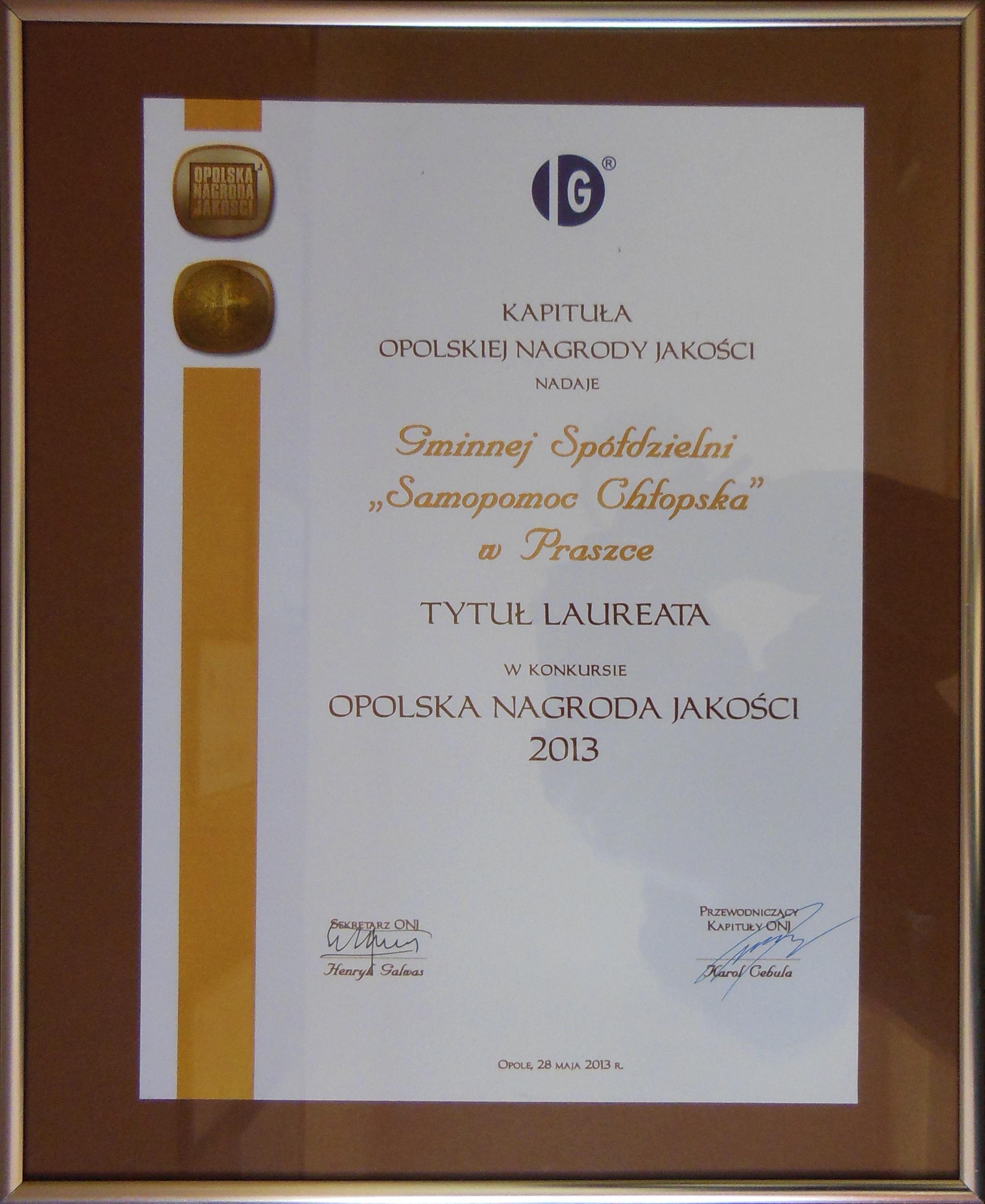 GS - Praszka Nagrody